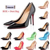 red bottoms high heels أشار تو الكعوب الأحمر القيعان مصمم أزياء فاخرة للنساء احذية جولة مضخات الكعوب العالية السيدات فستان الزفاف احذية