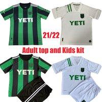 Yetişkin Üst ve Çocuk Kiti 2021 2022 MLS Inaugural Austin FC Futbol Forması Yüzük Ev Uzaktan 20 21 22 Futbol Gömlek Maillot De Ayak Üniforma