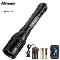Alonefire h004 xlamp XHP50 poderoso zoom USB LED Torch 18650 Bateria recarregável Caça tático luz lanternas tochas