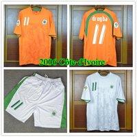 2006ワールドカップコートD'口コワールドログバホームオレンジレトロクラシック06フットボールフットボールシャツ