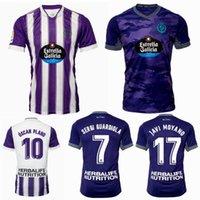 2021 2022 Jerseys de futebol Valladolid reais 21 22 Oscar Plano Javi Moyano Sergi Guardiola Casa de futebol