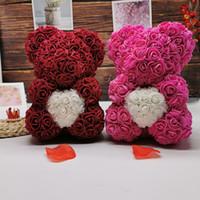 25 cm rosa urso flor rosa urso abraço urso dar namorada dia dos namorados presente de aniversário presente de mãe gga4644
