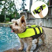 Collares de perro Correas Premium Life Chalecas LifeSaver ajustable Seguridad Reflectante Reflectante Natación Chaleco Perros Traje de baño Mascotas Traje
