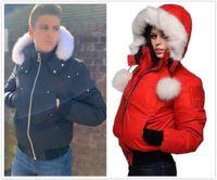 Erkek ve kadın Kış Açık Eğlence Spor Aşağı Ceket Beyaz Ördek Rüzgar Geçirmez Parker Kapşonlu Sıcak Gerçek Kurt Kürk Moda Klasik Macera Tasarımcısı Ceketler