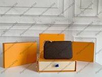 Лучшие высококачественные кошельки для монет Париж Стиль в пленке роскоши дизайнеры мужские кошельки женские кошелек высокого класса люкс дизайнеры мини монетные кошельки с упаковочной коробкой M62650