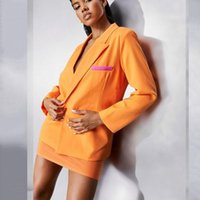 Women's Suits & Blazers Colorful Blazer Jacket For Women Jackets Streetwear 2021 Purple Plus Size Elegant Office Lady Coat American Stylish