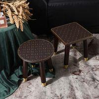 الكلاسيكية الفاخرة غرفة المعيشة الأحذية البراز الأزياء الرجعية مصمم الخشب كرسي الشاي طاولة أريكة