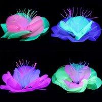 Fische Tank Dekoration Künstliche Pflanzen Gefälschte Lotus Simulation Fluoreszierende Blume Dekor Bunte Aquarium Ornament Dekorationen