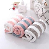 Towel Striped Women Rapid Quick Drying Hair Girl's Fashion Dry Hat Bath Wrap Soft Bathing Cap