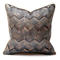 Cushion Decorative Pillow Upscale Cushions Car Decorative Cushion Simple Cover Office Stitching Luxurious