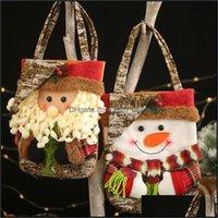 Decorações Festivas Suprimentos Gardenhristmas Santa Claus Boneco de Nateira Árvore de Natal Ornamentos Casa Festa Decoração Crianças Doces Presente Bags B