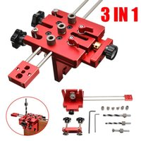 Professional Hand Tool Sets 3 In 1 Woodworking Hole Drill Punch Positioner Guide Locator Jig Joinery System Kit Wood Working DIY With Limit