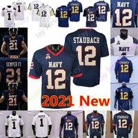 مخصص 2021 البحرية midshipmen كرة القدم جيرسي NCAA كلية دالين موريس جملاء الساخر هياكل هيلز مارك ووكر mychal كوبر دييغو شاذ