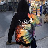 Women's Hoodies & Sweatshirts Printed Casual Long Sleeve Hoodie In A World Full Of Princesses Be Witch Ladies Halloween Fashion Tie D Ye Shi