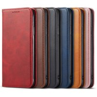 Magnetic Leather Case For iPhone 13 12 Mini 11 Pro XS Max XR 7 8 6 6s Plus 5s SE Luxury Wallet Flip Card Slot Stand Phone Cover
