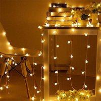 Strings miflame 2/3 / 6m LED luz de luz de iluminação de Natal à prova d 'água à prova d'água decoração pequena lanterna