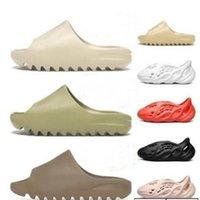Top Quality 36-47 glissades pantoufles de pantoufle pellier du désert sable chaussure core triple noire os blanc résine résine sandale sandale homme pantoufle