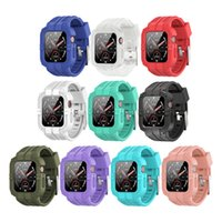 Tough Silicone Armor Protect Case Loop Band Wrist Strap Cover for Apple Watch Series 6 5 4 3 2 1 SE