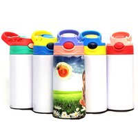 12oz Sublimation Straight Sippy Cup Sublimation Blanks Bounce Mug Double Wall Vacuum Water Bottle Insulation Water Bottle SEA WAY HHA5261