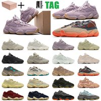 Adidas Yeezy Desert Rat 500 Blush shoes Fashion Kanye 500s Runner Casual Shoes Taupe Light 500 Enflame Super Moon Yellow Utility Black Big Size US 12 Mens Trainers Womens Sneakers