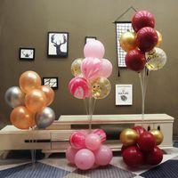 Party Decoration 70 100 130cm Balloons Stand Holder Happy Birthday Decor Kids Balloon Stick Ballon Arch Baloon Accessories Pump Air Ball