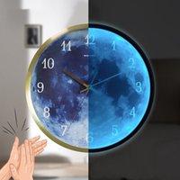 Diametro 30 cm orologi da parete durata lunga voce orologio controllato orologio 5 stile orologio da parete luminoso cornice in metallo arredamento casa da mare T2i52255