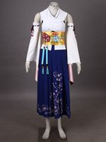 Women's Final Fantasy X Cosplay Costume Yuna 1st Summoner Uniform