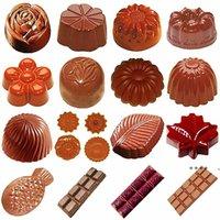 قوالب الشوكولاته البولي 3d الشوكولاته الحلوى القضبان القالب صينية البلاستيك البولي شكل الزهور الخبز المعجنات أدوات المخابز FWD6067