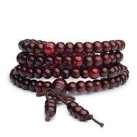 Nouveau Buddha 108 * 0.6cm Mala Perles Bracelet Perles Perles Perles Tibétain Bouddhiste Boudles Barbon Bouddha Bijoux pour hommes WJL1446