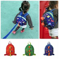 Brand New Kids Safety Harness Leash Anti Lost Shark Backpack Strap Bag For Walking Toddler 3D Dinosaur Cartoon School Bags