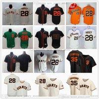 Jerseys beisebol 28 Buster 35 Brandon Posey Crawford costurado verde cinza estrada creme lar laranja preto alternar jersey