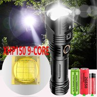 5000MAH XHP160 XHP150 LED Flashlight USB Recharge Zoom Torch IPX-6 Waterproof Tactical Flash Light by 26650 18650 210608