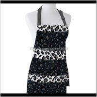 Aprons Leopard Black White Striped Print Apron Unisex Kitchen Bib With Adjustable Neck For Cooking Gardening Ptefy 3O0Qb
