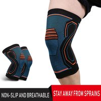 Elbow & Knee Pads 1PCS Elastic Support Compression Leg Wrap Sports Safet Kneepads Knitted Brace Straps Protection Pain Relief