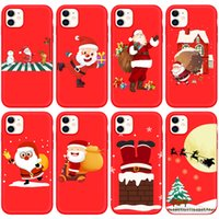 iPhone13 Karikatür Noel Elk TPU Yumuşak Cep Telefonu Kılıfları Apple iPhone 13 Pro Max 12 Mini 11 XR Xmas Ağacı Yeni Yıl Mobilephone Kılıfı