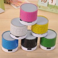 A9 LED Wireless Speaker Bluetooth Mini Speakers Colored Flash FM Radio TF Card USB For Mobile Phone PC S8 DHL