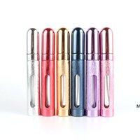 Parfüm Şişesi Previa Alüminyum Metal Parfümler Şişeler Parti Malzemeleri Cam Astar Kozmetik Ayrı Boş Sprey 6 ml Deniz DHC7571