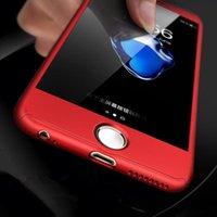 Cajas de teléfono celular para iPhone 12 11 XSMAX XR X 8P 8 7 6 360 ° Caso duro anti-colisión anti-colisión integral Enviar película templada