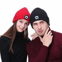 Зимняя шапка шляпа унисекс шапочка мягкая вязаная шапка беспроводной Bluetooth 5.0 смарт-крышка стерео наушников гарнитура светодиодный свет в OPP мешок OWA4896