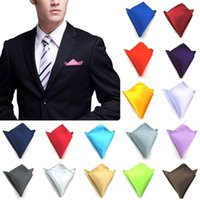 Uomini Hanky Satin Color Solid Colore Pianurale Pocket Pocket Style Suit Ao asciugamano 2021 Fashion Wedding Party Fascino Bow Ties