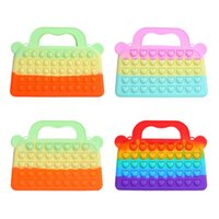 Bolsas de almacenamiento Push Bubble Silicone Handbag Design Sensory Toys Thream Thess Múltiples usos portátil Monedero Bolsa de billetera Regalo para niñas Adulto Ki