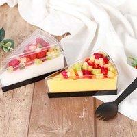 Factory7se1 ps пудинг треугольник твердый утолщенный мусс желе мороженое десерт торт коробка одноразовая пластиковая чашка