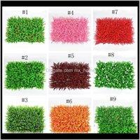 زهور الزهور الزخرفية البيئة العشب الملونة الحديقة دائم بلات بلات الجدار حساسة من البلاستيك العشب لحديقة الزفاف eea31 fbndm