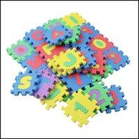 장난감 학습 교육 장난감 선물 36pcs / 세트 알파벳 숫자 어린이 놀이 어린이 부드러운 바닥 클링 러그 미니 EVA 거품 매트 아기 게임 재생