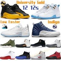 Yüksek Basketbol Ayakkabıları 12 12 S Düşük Paskalya Erkek Sneaker Üniversitesi Mavi Altın Indigo Kiraz CNY Büküm Beyaz Koyu Gri Telif Miyim Kadın Spor Eğitmenleri