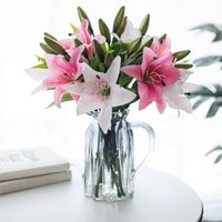 Simulation Lily Wedding Home Photography Decorative Artificial Flower Home Table Accessories Party Supplies Dried Flowers
