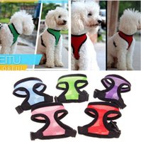 18 Colors Soft Mesh Pet Dog Puppy Cat Collars Harness Control Walk Collar Safety Strap Vest