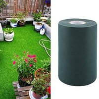 Decorative Flowers & Wreaths 15x500cm Synthetic Lawn Gras Carpet Artificial Turf Seaming Fix Joining Tape Waterproof Durable Easy Use Non-sl