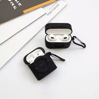 Camera Desingers Luxurys AirPods Case Headphone Accessories High-top Bluetooth Wireless Headset Protective Airpods1 2 3 pro generation applicable good nice