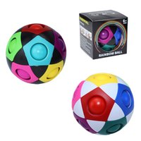 Magic Rainbow Puzzle Ball Fidget Balls Toy Game Fun Stress Reliever Brain Teaser Toys for Boys and Girls Children Teens & Adults, Color Box  OPP Bag - C 100